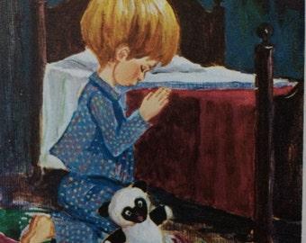 Jan Bell's Little People praying boy and girl prints, Jan Bell, sunshine sampler