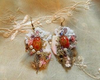 Rhodocrosite earrings