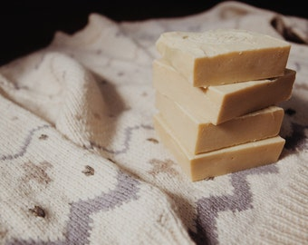 Baby milky soap with blue chamomile.