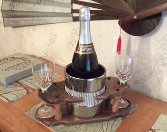 17 - Champagne Ice Bowl (1) Stemmed Glass (2 station) Full 750ml