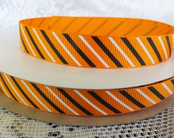 5/8 Halloween ribbon 16mm Halloween striped ribbon