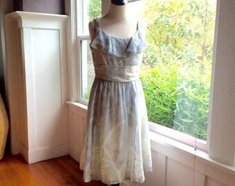 1970's Vintage Summer Spring Cotton Dress Coco California Medium