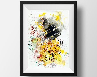 Colorful Modern Fine Art Print Abstraction Contemporary Painting Vibrant colors  Wall Art Print Home decor Gift