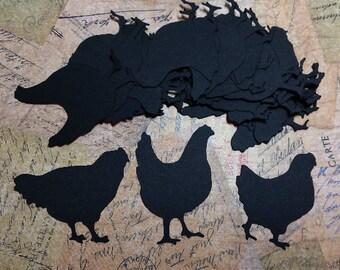 Die Cut Chickens #H-65