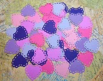 Scalloped edge Hearts/Doilies   #TAM-82