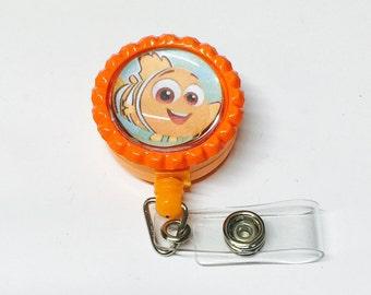 Nemo Bottlecap Pin Back Button/Keychain/bracelet/Necklace/Retractable Badge Reel Disney