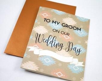 Husband Card  - Groom Card -  Wedding Day Card