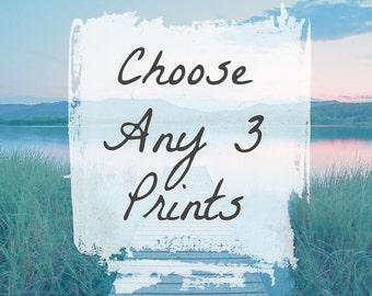 Coastal Wall Art - Choose Any 3 Prints - Beach Decor - Housewarming Gift - Gift for Her -
