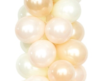 EFFERVESCENT - Pearl and Cream Latex Balloons (30 balloons per package)