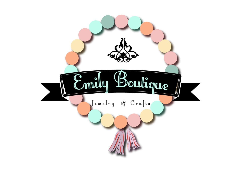Custom logo design for handmade jewelry colorful beads logo