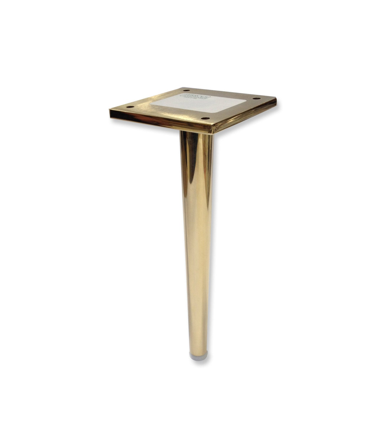dunbar brass metal furniture leg tapered