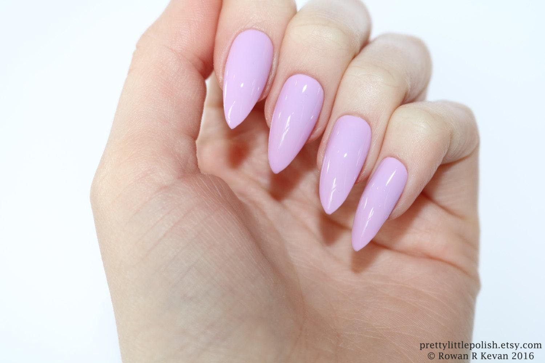 Pastel purple stiletto nails Fake nail Stiletto nail Kylie