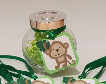 safari birthday - safari gift tags - safari decorations - safari favors - monkey birthday - monkey gift tags - monkey favors - monkey party