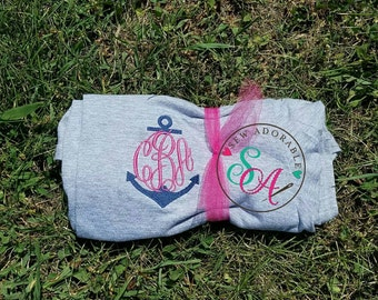 Monogram Anchor Shirt, anchor monogram, personalized tshirt