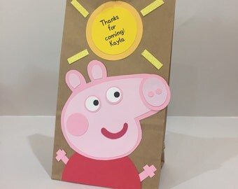 Peppa Pig party bags, peppa pig party, peppa pig party decoration, peppa pig party bags, peppa pig sacks, peppa pig bags