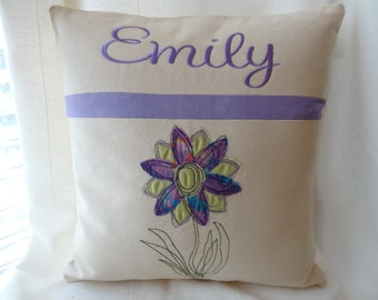 "Personalized Baby girl Gift - unique monogrammed baby gift -Pillow - 16""x16"" - pillow - insert included"