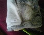 Luxurious faux fur pet bed/mat - Canadian fox