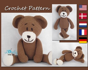 Amigurumi Pattern Crochet, Amigurumi Bear Crochet, Animal Crochet Pattern, Teddy Bear, CP-111
