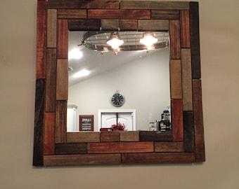 Wood Mosisc Mirror