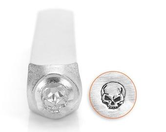 Angry Skull metal stamp 6mm metal design stamp
