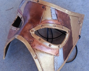 Steampunk Leather Plated Masquerade Mask