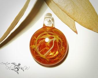 Glass Pendant - Ancient Gold Pendant - Glass Art - Unique Bead - Blown Glass Jewelry - Glass Necklace - Boro Pendant - Universe Filament