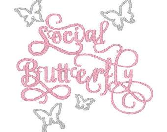 Digitized 3x3 Social Butterfly