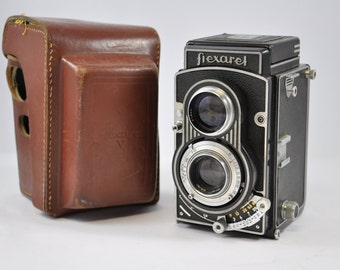 Flexaret Camera V, Vintage Camera, Antique Camera, TLR Camera, 6x6 Camera, Camera Lens, Flexaret, Medium Format Camera, twin lens camera