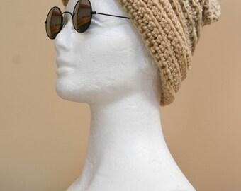 Tan Crochet Hat