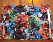 Avengers Placemats, Marvel Comics Reversible Placemats, Kids Placemats