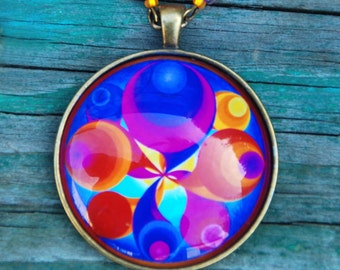 The Angel of changes mandala pendant