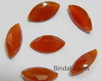 Rarest 15 Pieces Wholesale Lot Red Onyx Marquise Shape Faceted Cut Gemstone For Jewelry