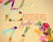 JW Brothers in Unity, For Traveling Brothers - 25 Flat Note Cards with Envelopes