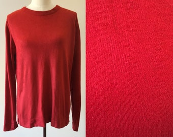 oversized sweater // red vintage sweater // 90s slouchy sweater