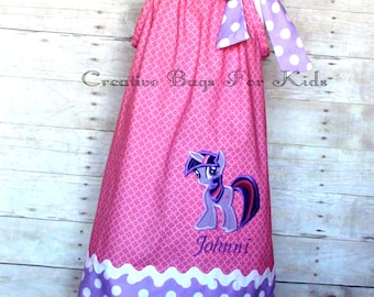 My Little Pony Twilight Dress/ Twilight Pony Outfit/ My Little Pony Birthday Dress (matching bag available)