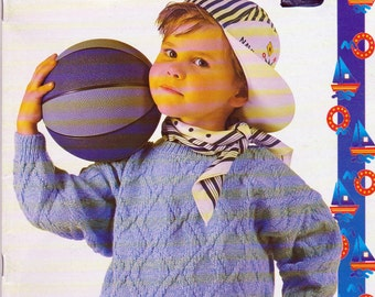 Phildar No 215 Knitting Patterns for Boys and Girls, 2 to 14 Years, in English, 15 Knitting Patterns for Boys and Girls