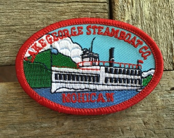Lake George Steamboat Co Mohican Vintage Souvenir Travel Patch