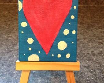 Mini Heart Painting