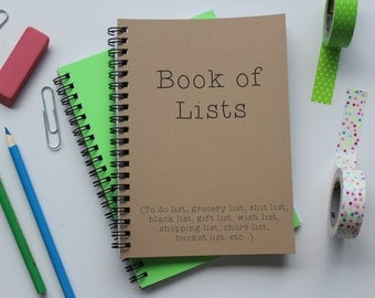 Book of Lists - 5 x 7 journal
