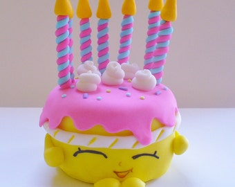 Shopkins WISHES Edible Fondant Cake Topper