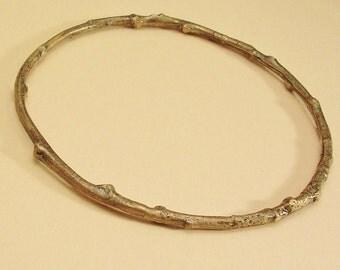 twig bangle bracelet botanical jewelry cast bronze twig bracelet nature jewelry 5 sizes