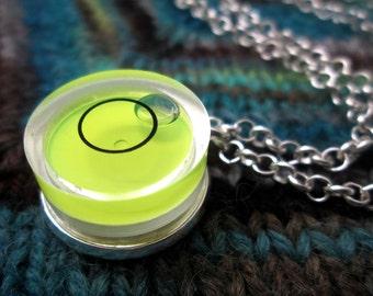 Spirit Level Necklace - Neon Yellow - Stim Toy
