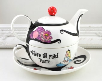 Alice in Wonderland Tea Set For One