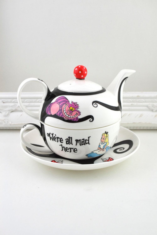 Alice in wonderland tea set-4897