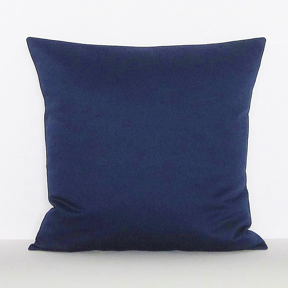 Decorative Pillows Navy : Navy Blue Pillow Cover Decorative Throw Accent Toss Pillow