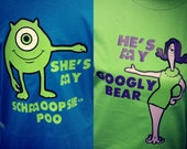 His and Hers Matching Couples Disney World Vacation tees inspired by Monsters Inc