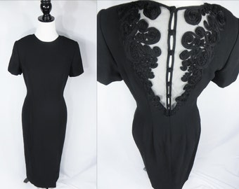 Black Vintage Dress, Womens Dress, Vintage Dress, Womens Unique Dress, Semi Formal, Womens Dresses Unique, Womans Vintage Dress, Black Dress