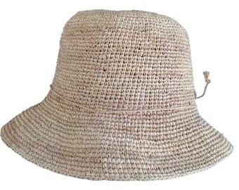 Madagascar Hat - Natural Crocheted Raffia