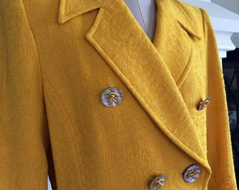 Sunshine on a rainy day - asymetric Christian Lacroix jacket.
