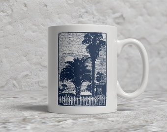 Coastal Mug, Beach, Palm Trees, Southern coast